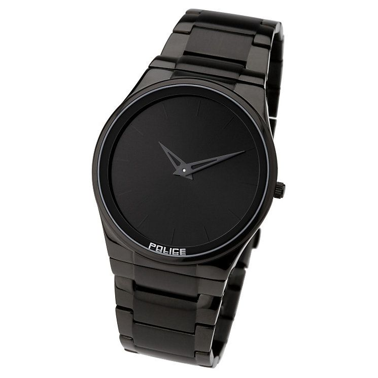 Buy online Police Black Ion Plated Bracelet Watch #menswatches #childrenswatches @manicsales http://goo.gl/1KiKzf