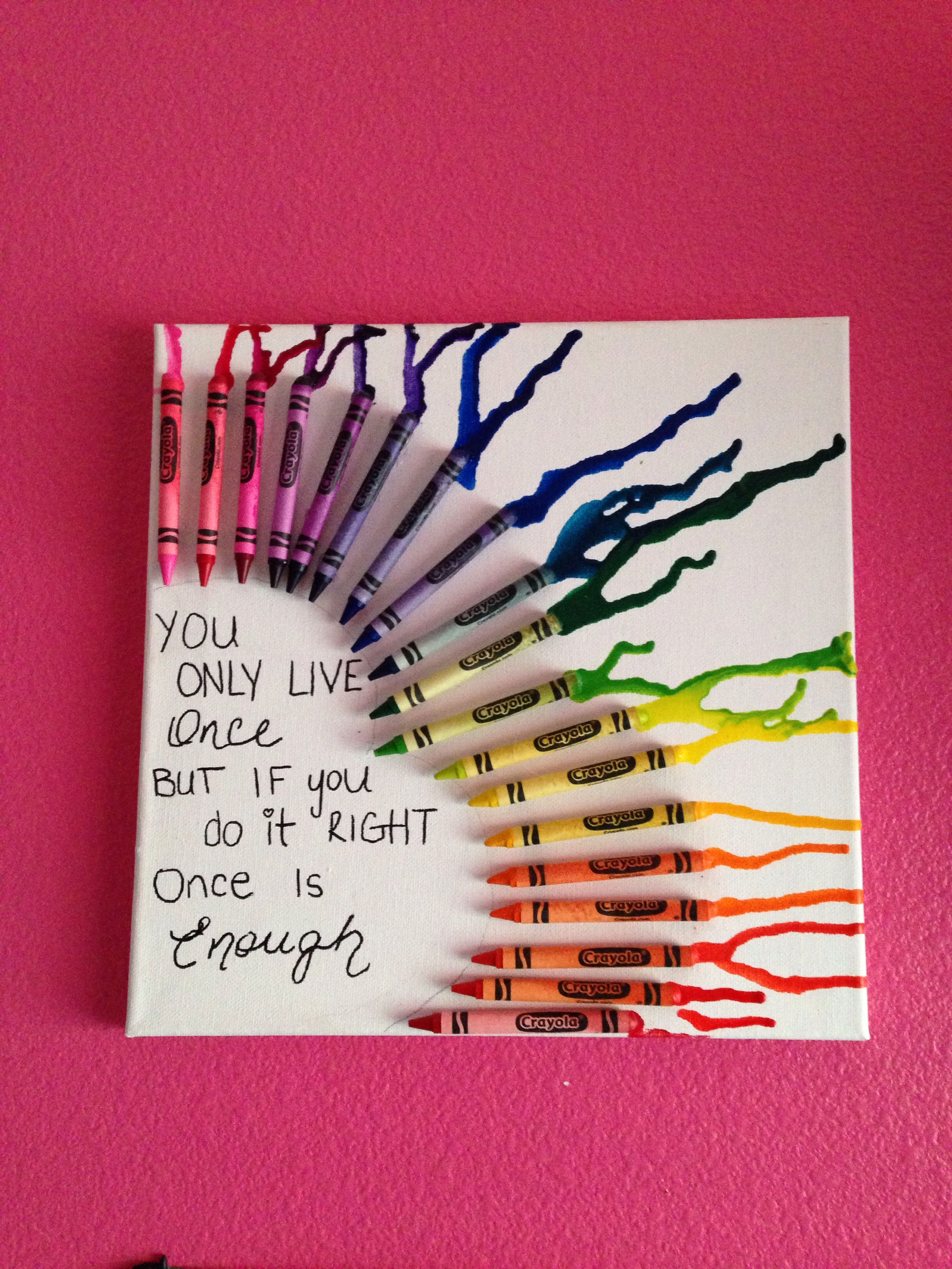 beautiful crayon melting canvas idea d i y pinterest