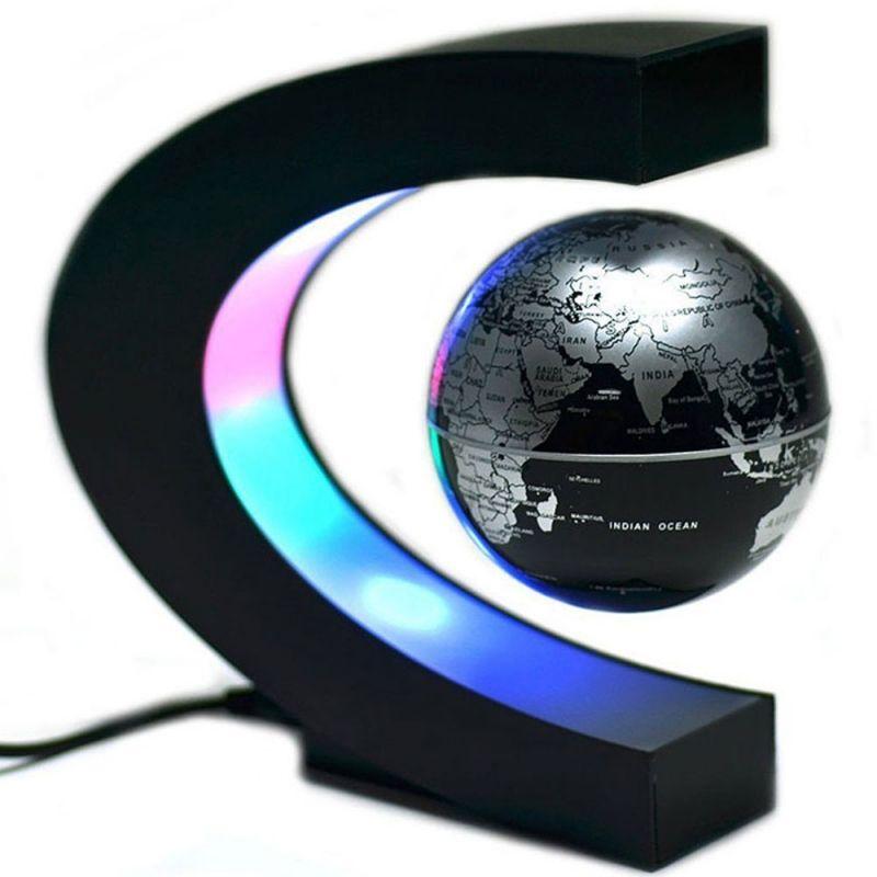 /Éclairage froid N//V Globe /à l/évitation magn/étique flottant avec carte du monde D/écoration de bureau ou de maison