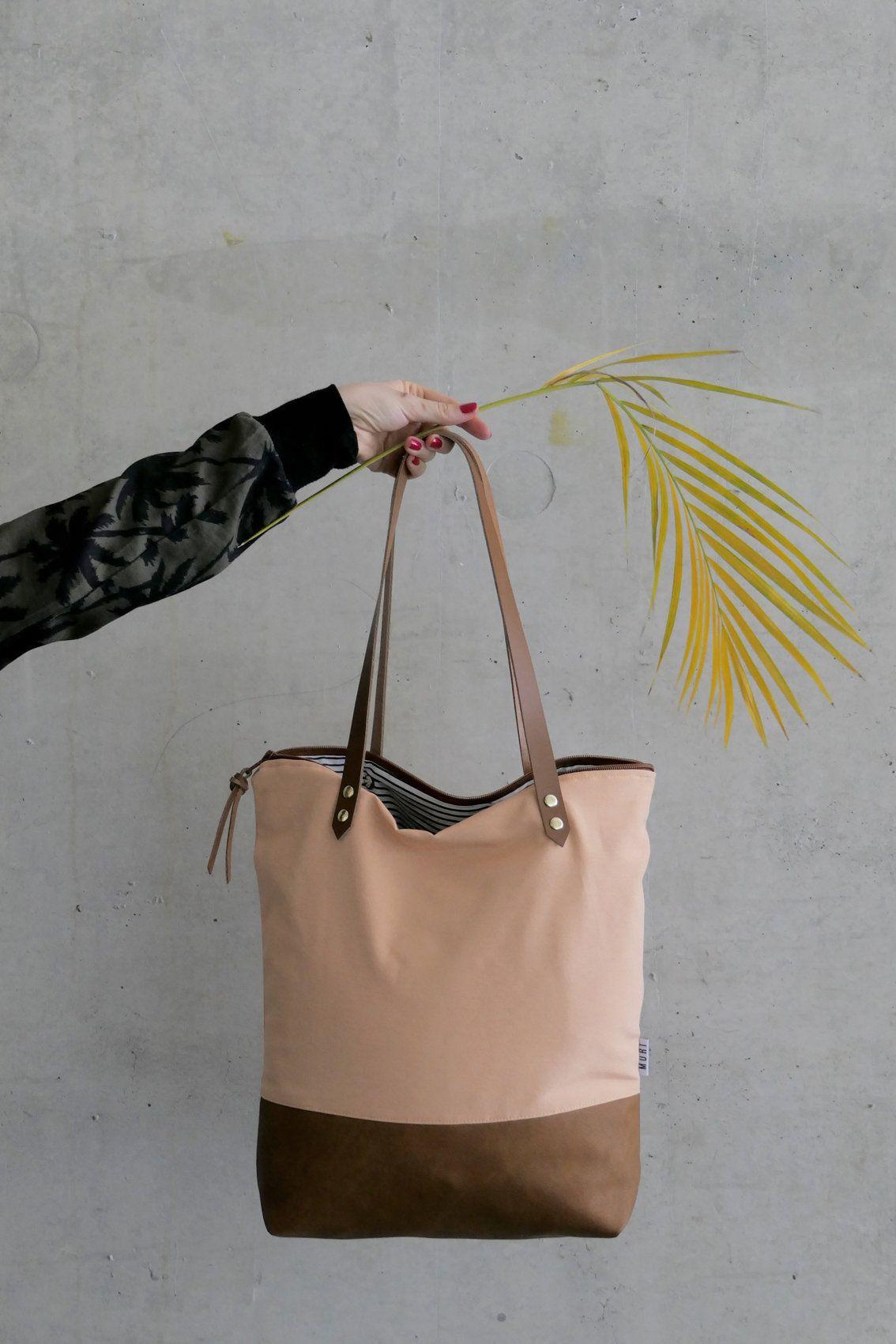 f755442b16b75 Tasche Tote Stoff Leder Frauen Handtasche Taschen mit