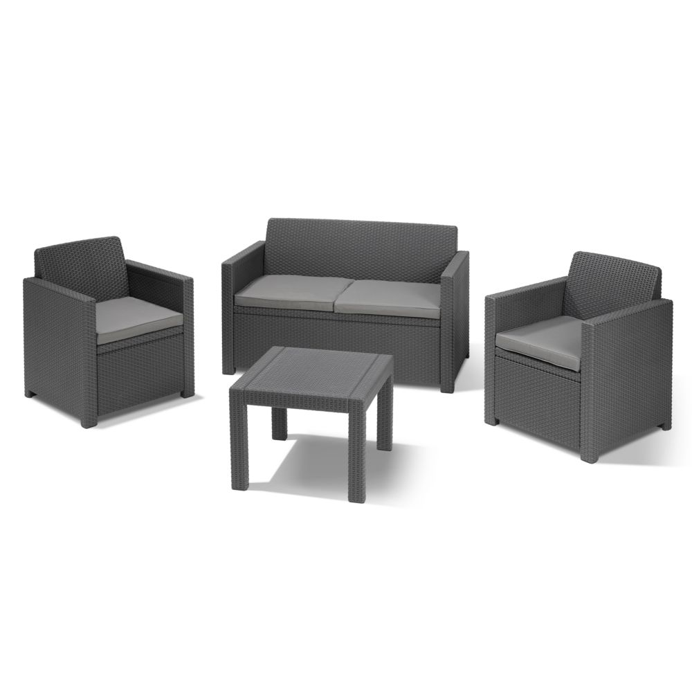 Salon de jardin d tente alabama anthracite salon de for Mobilier jardin exterieur