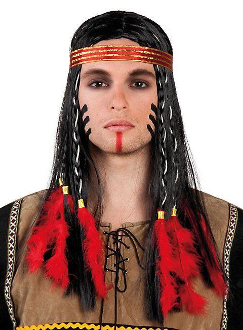 Prärie Indianer Perücke