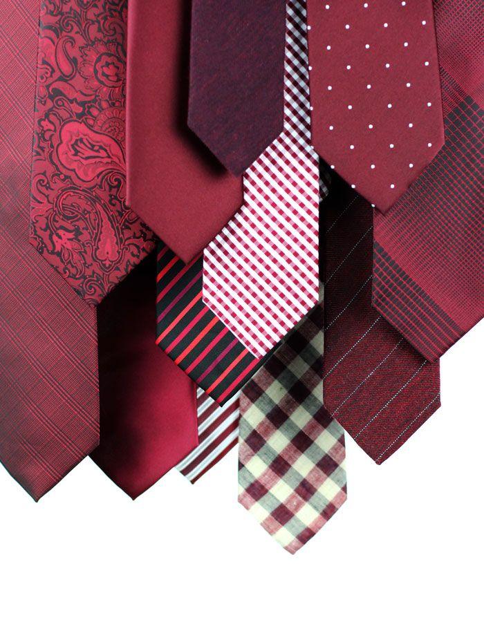 Marsala Ties in all hues + patterns imaginable.