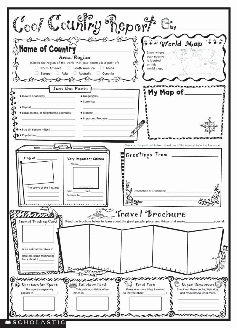 North America Countries Coloring Sheet Fresh Instant Personal Poster Sets Cool Country Report Social Studies Worksheets Country Report State Report Template