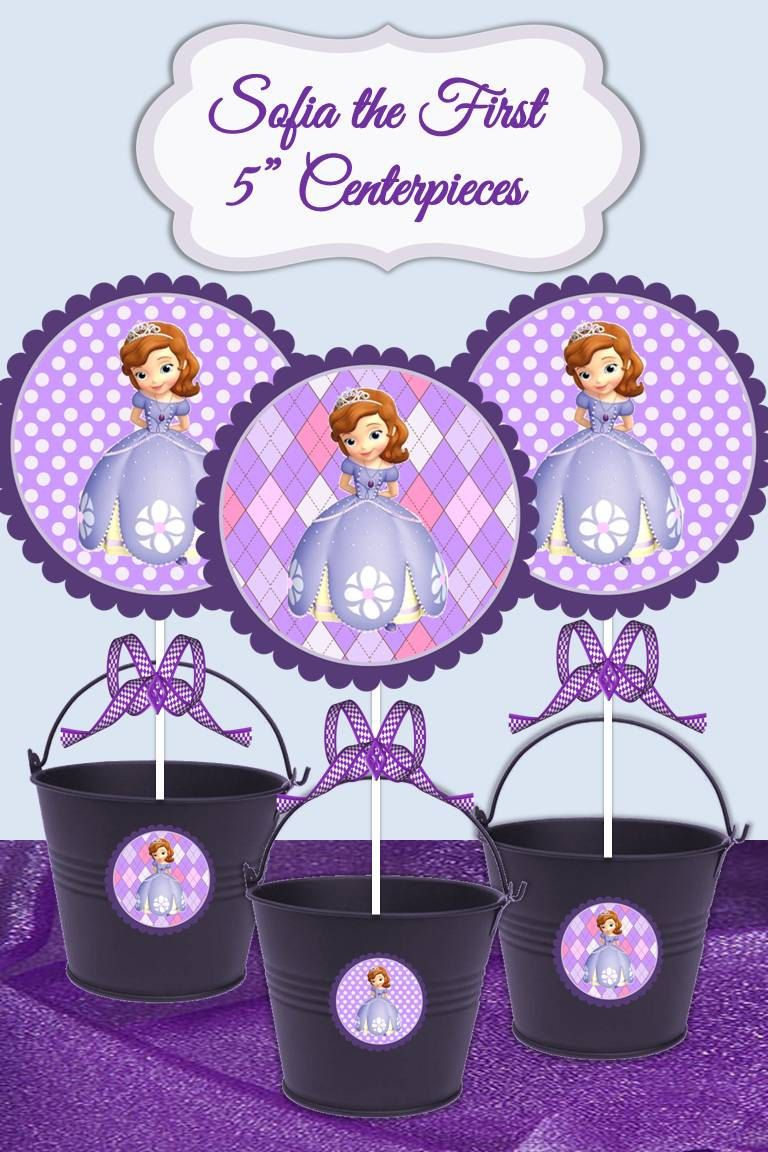 Super Sofia The First 5 Printable Diy Printable Centerpieces Cake Personalised Birthday Cards Cominlily Jamesorg