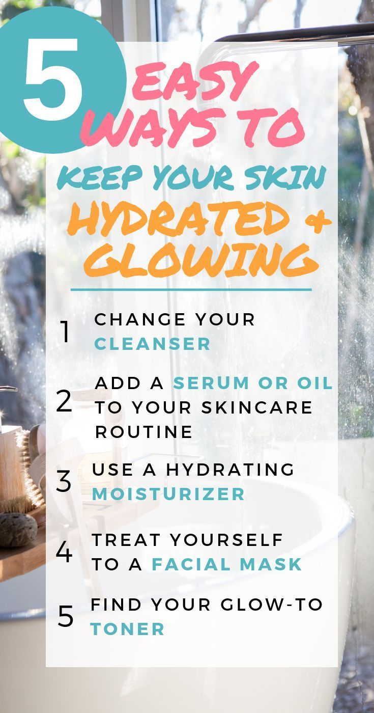5 Easy ways to keep your skin hydrated & glowing #skincare #glowing #hydrated #skincaretips #beauty #HomemadeBeautyTips