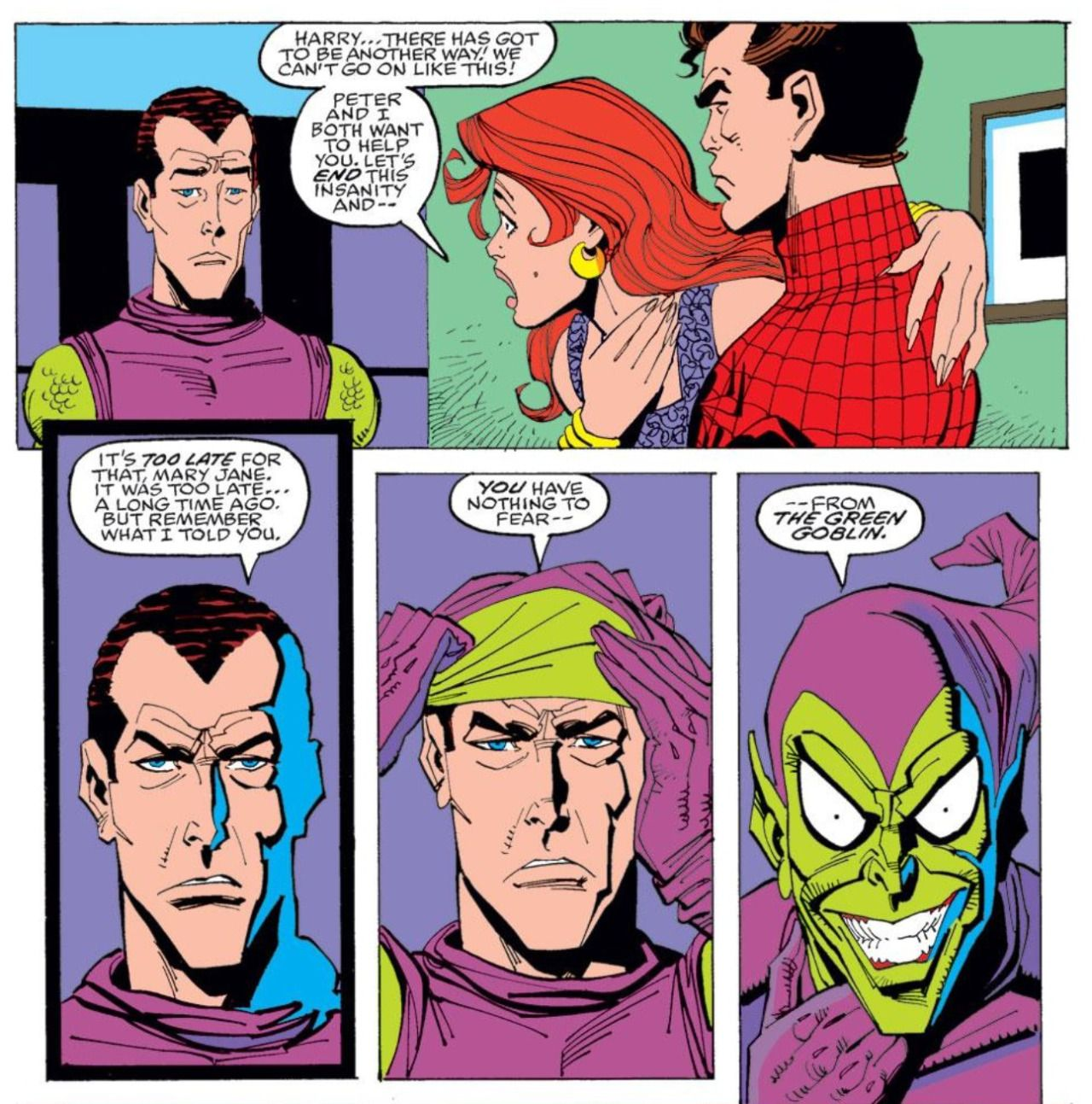 Harry is the Green Goblin in Spectacular Spider-Man #200 - a Sal ...