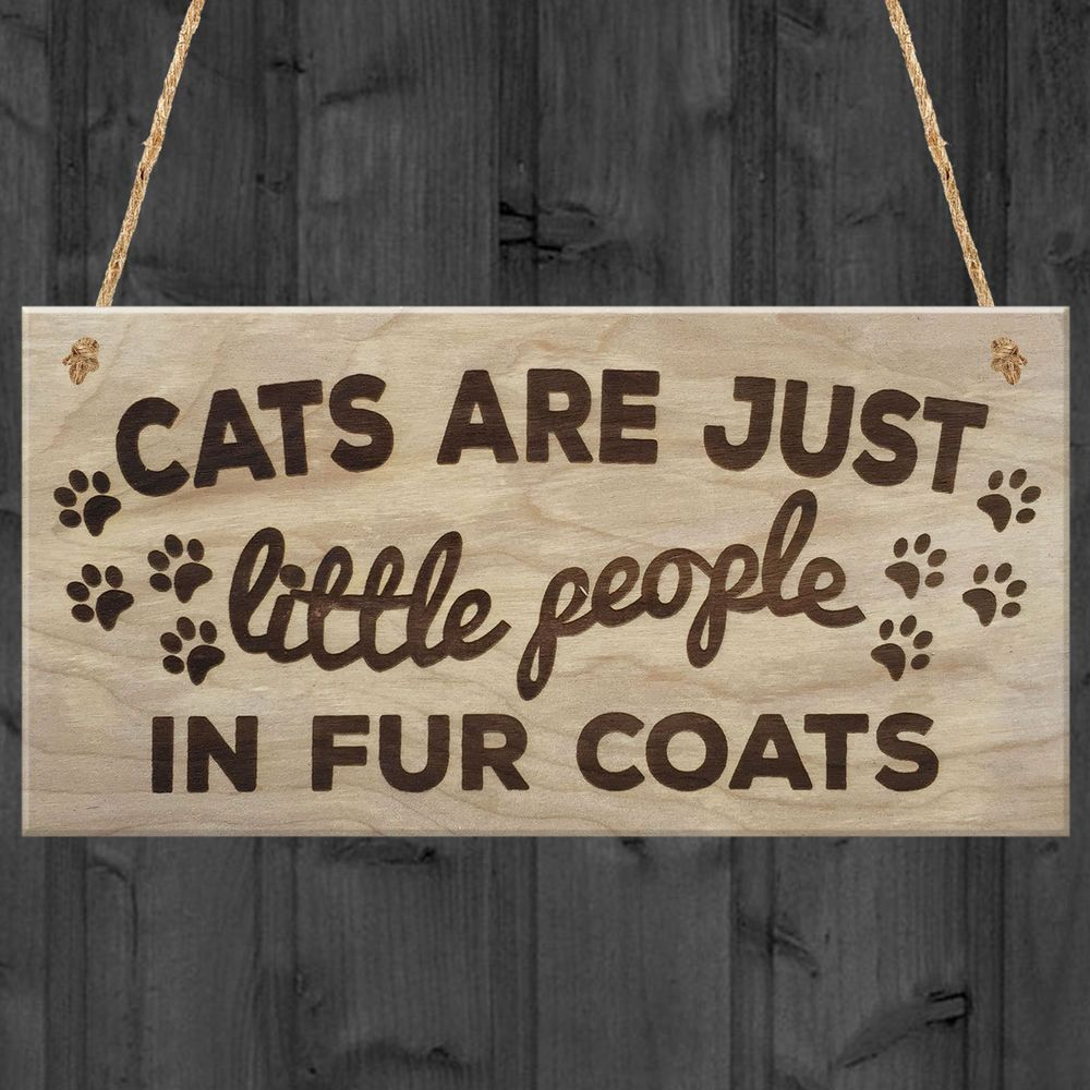 Home Is Where The Cats Are Cat Is Wooden Hanging Plaque Cat Lovers Gift Present