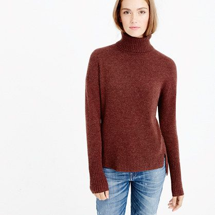 J.Crew - Relaxed wool turtleneck sweater with rib trim - worth to ...