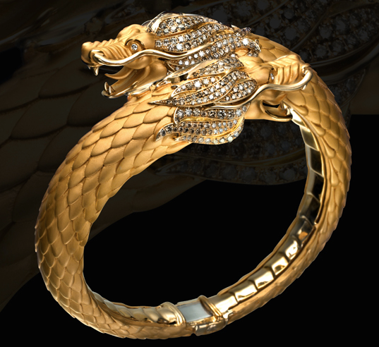 gold dragon jewelry Carrera y Carrera Dragon Bracelet KENTON