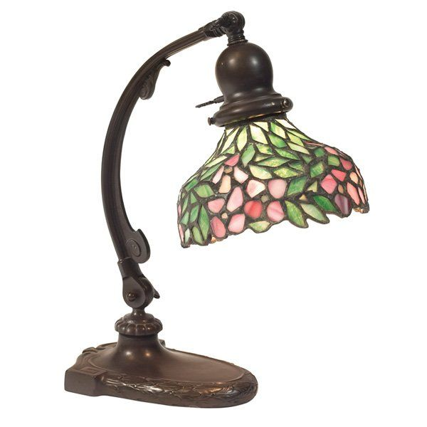 Handel piano lamp base art glass shade stained glass lampsleaded