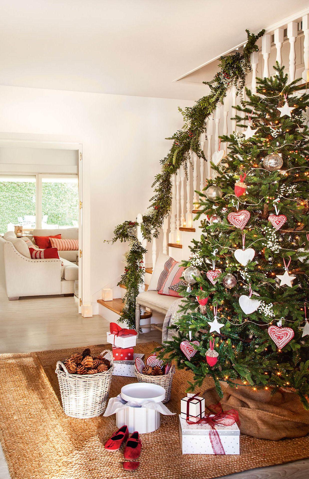 Albero Natale Decorato Rosso pin su c h r i s t m a s