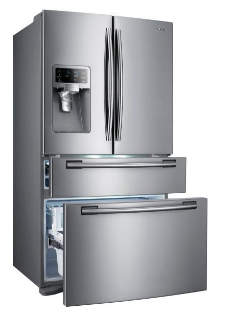 Samsung 28 Cu. Ft. Stainless Steel 4-Door French Door Refrigerator (Model: RF4287HARS):