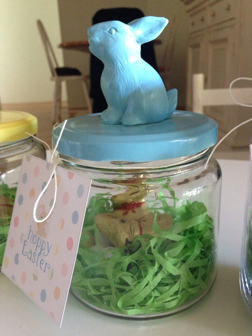 Easter bunny gift jars our little creations pinterest easter bunny gift jars negle Gallery