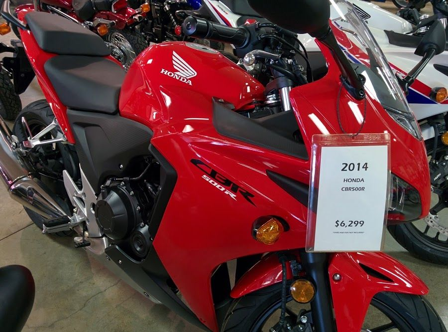 The Honda CBR500R is one of our most popular sport bikes