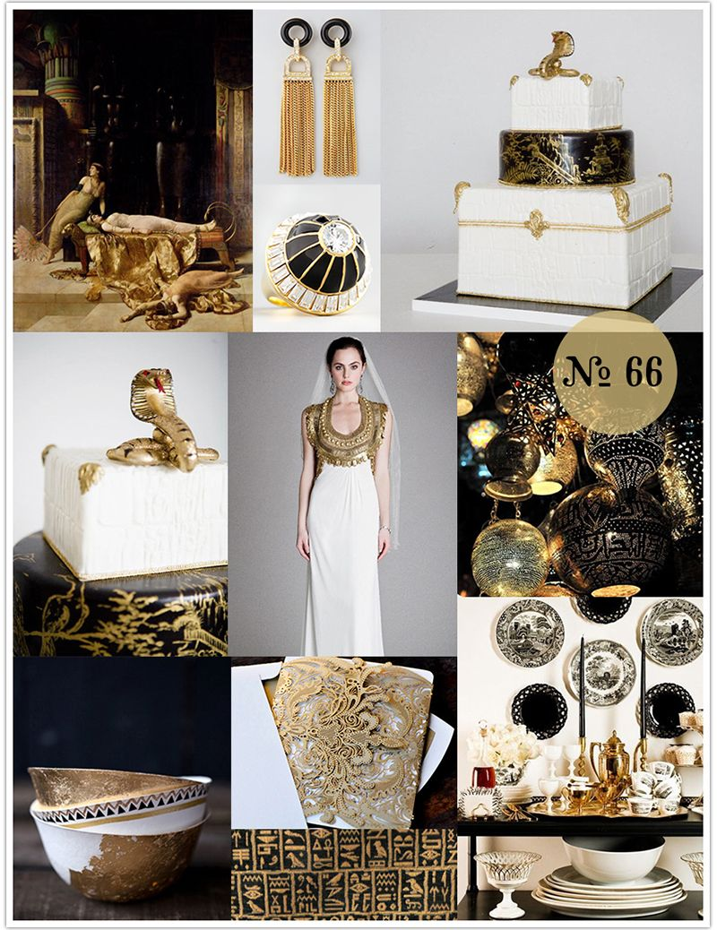 Mood Board 66 Cleopatra Black Gold And White Wedding