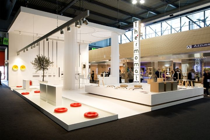 thermomat booth at salon de mobile by archiplan studio milan italy exhibit design. Black Bedroom Furniture Sets. Home Design Ideas