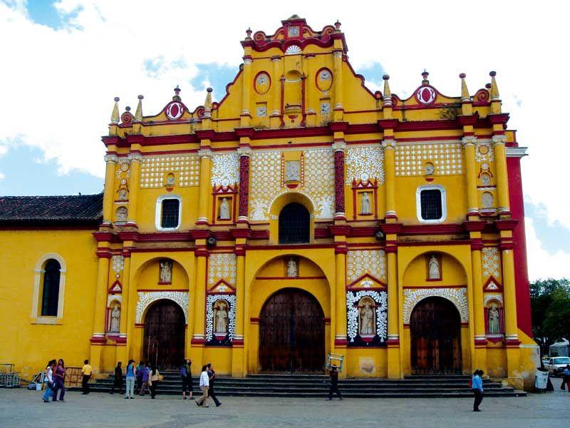 Catedral de San Cristobal de las Casas, Chiapas. Pueblo