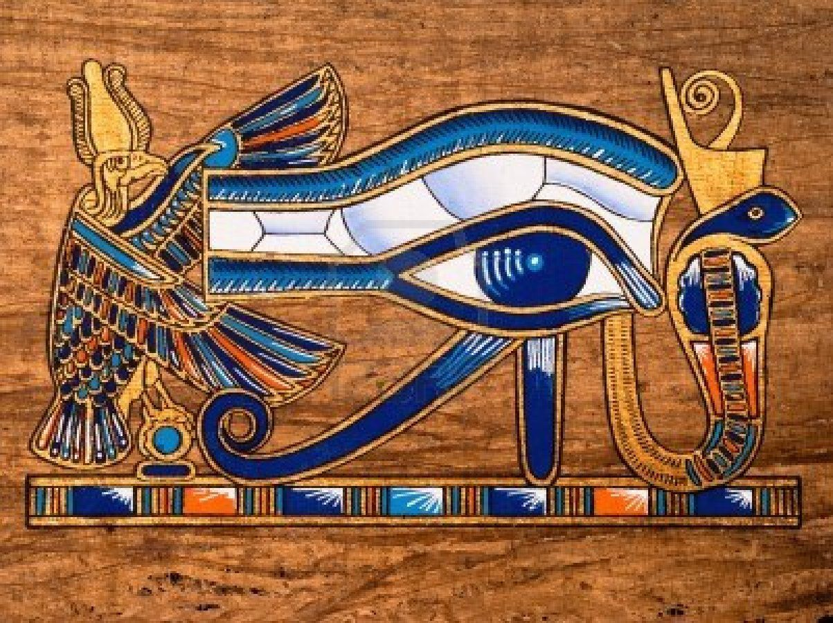 Wedjat ojo de Horus Egipto 7 cm FIGURA DE COLECCIONISTA poli egypt NUEVO
