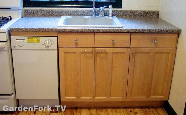 Great Custom DIY Dishwasher Installation