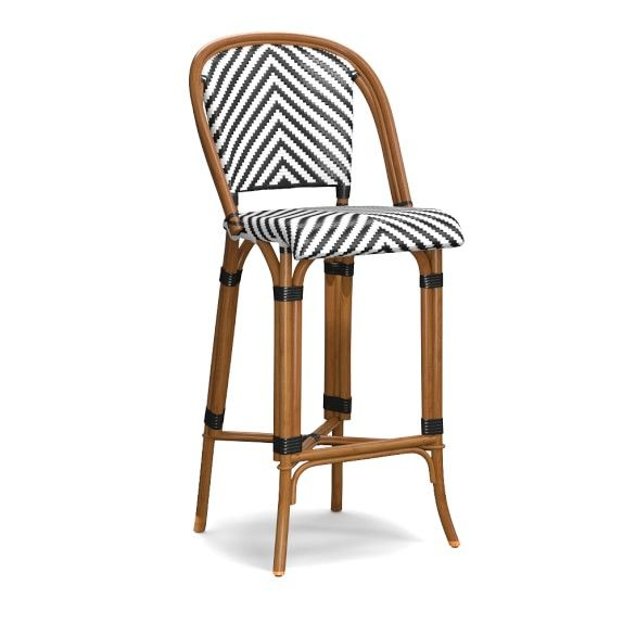 Parisian Bistro Woven Bar Stool Woven Bar Stools Parisian Bistro Bistro Chairs