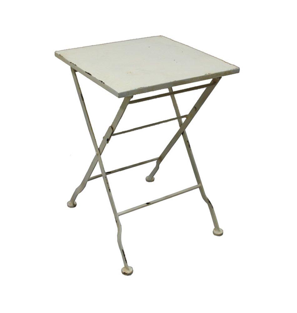 Metalltisch Klappbar Alessia Weiss Metalltische Eisentisch Tisch