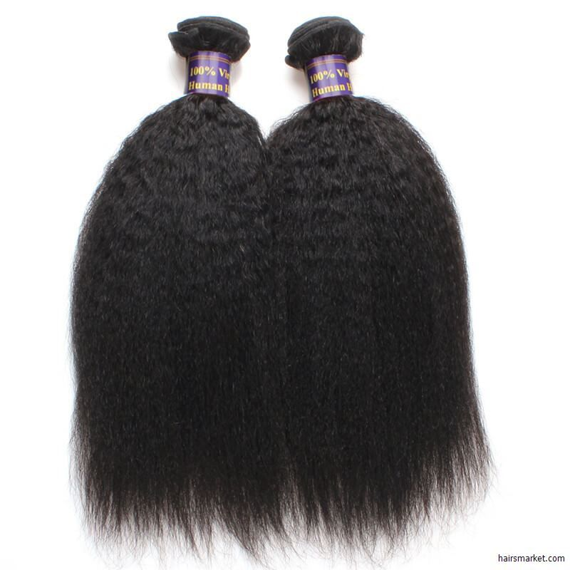 Kinky Straight Weave Hairstyle For Long Black Hairraw Indian Kinky