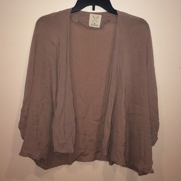 Urban Outfitters Kimono Gently worn, great condition. Taupe colored. Short sleeves, hits at waist line. Urban Outfitters Tops