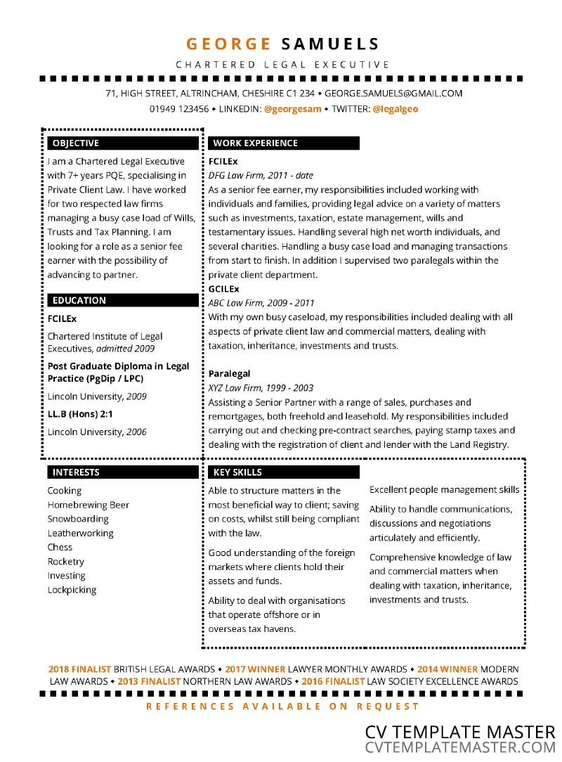 Free Sections CV template (2018) in Word Format - CV ...