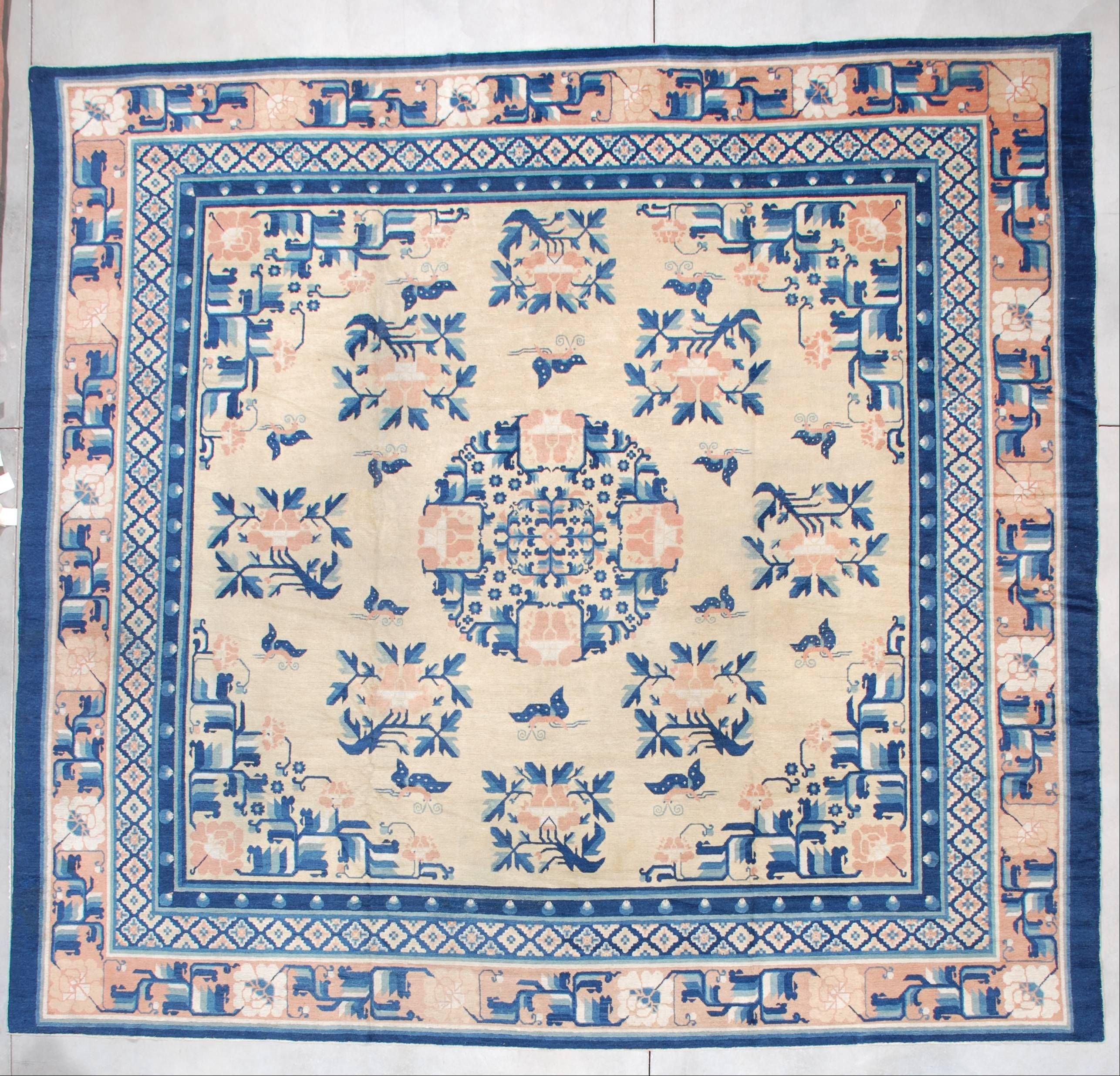 7256 Antique Ningxia Chinese Rug 12 3 X 11 9 Antique Oriental Rugs Chinese Rug Antique Oriental Rugs Rugs