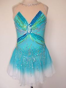 Custom Figure Skating Dress Twirling Dance Costume