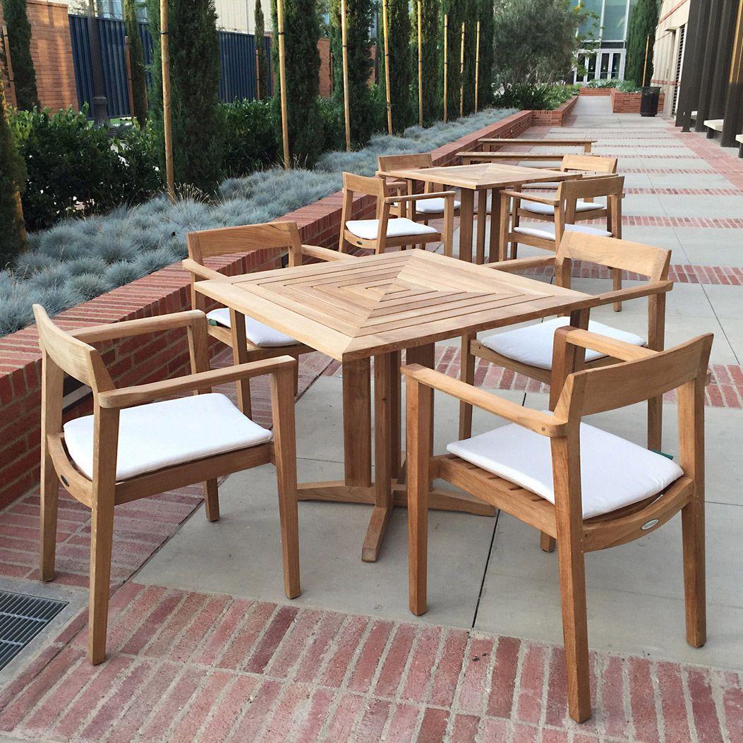 Square Teak Patio Bistro Dining Set Teak Outdoor Furniture