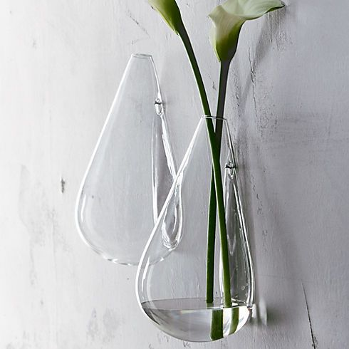 Wall Mounted Teardrop Vase In Décor Cb2 For The