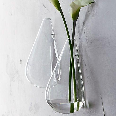 Wall Mounted Teardrop Vase In Wall Decor Cb2 Glass Wall Vase Wall Mounted Vase Wall Vase