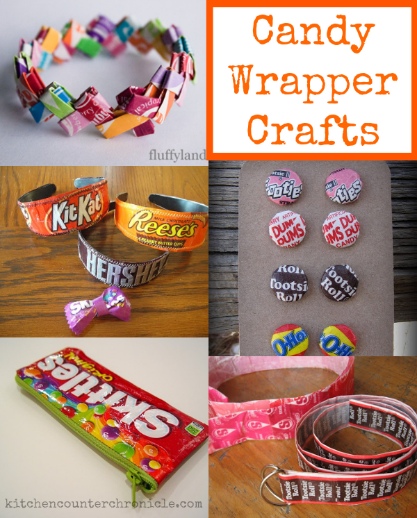 5 Eco Friendly Halloween Decoration Ideas: Halloween Candy Wrapper Crafts Kids Can Make