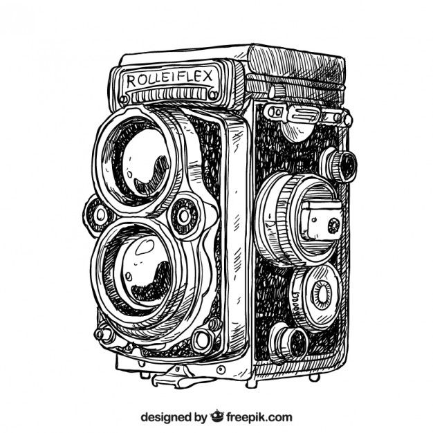 Main Antique Camera Dessinee En 2020 Dessin Vintage Dessin