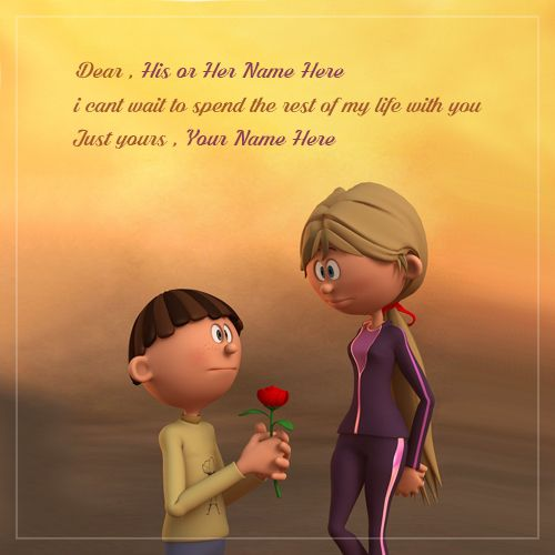 write name on love proposal quotes with images (With