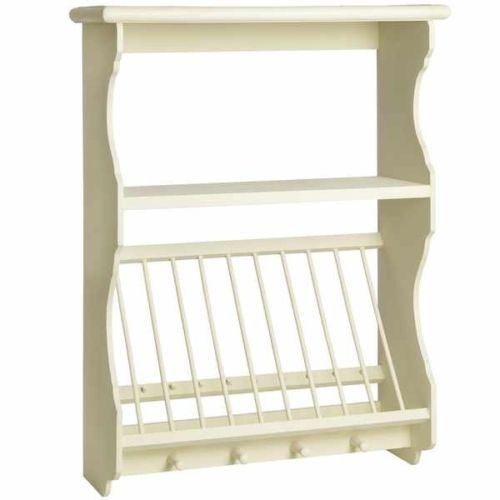 New French Style Country Cream Kitchen Plate Rack Wall Unit Shabby Chic