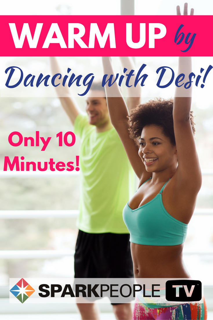 Warm Up Your Muscles In 10 Minutes With Our Dancing With Desi Video You Ll Love To Get Down And Warm Up W Spark People Fitness Fitness Tips Fitness Instructor