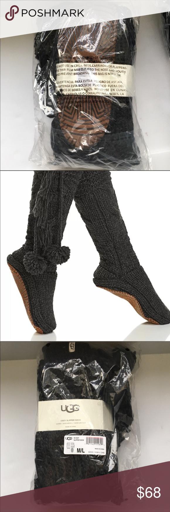 4d618aca0d3 Ugg Cozy Slipper Socks Dark Heather Gray M/L NWT Brand new in ...