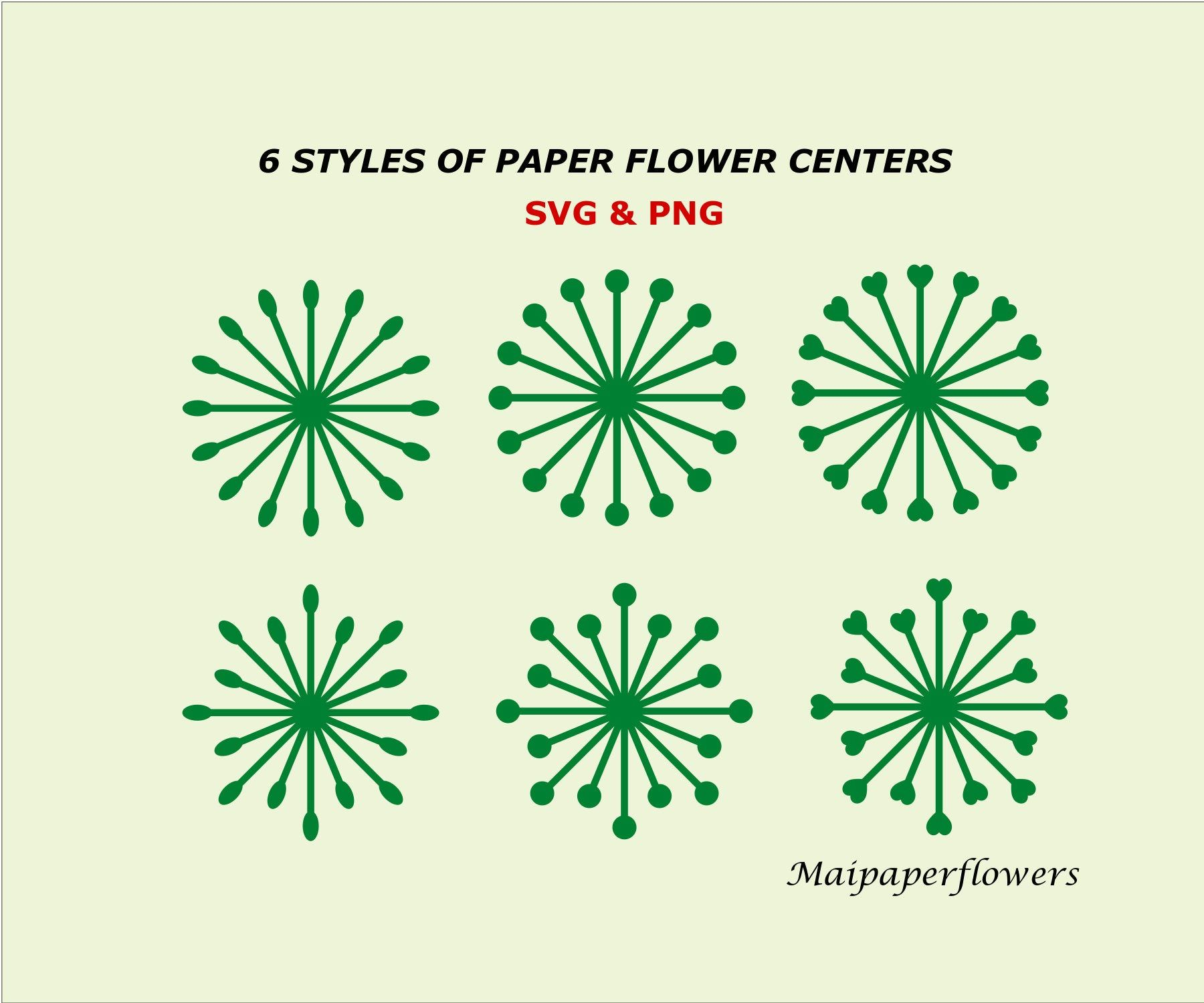 Paper Flower Centers, Flower Center Template, Paper Flower Center Template, Paper Flower Stamen, Flower Center Svg #bigpaperflowers