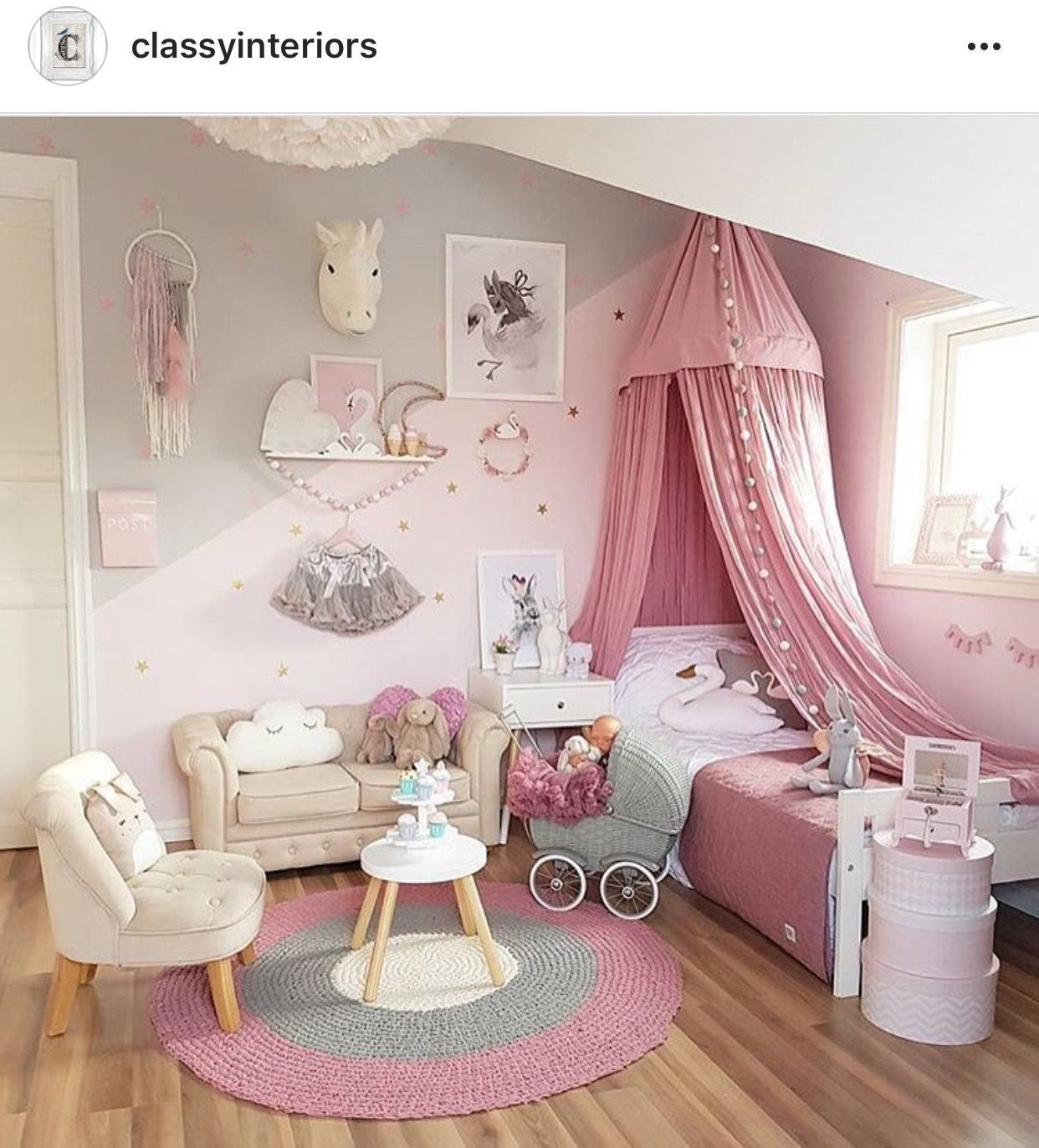 Such An Adorable Idea For A Little Girls Room Camere Ragazza