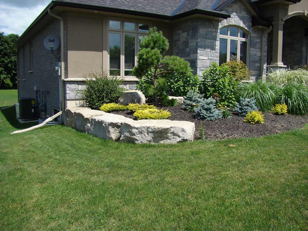 Marvelous Stone Landscaping Ideas For Front Yard Part - 10: Armour Stone Landscaping Photo Gallery | Lester Contracting. Stone  LandscapingFront Yard ...
