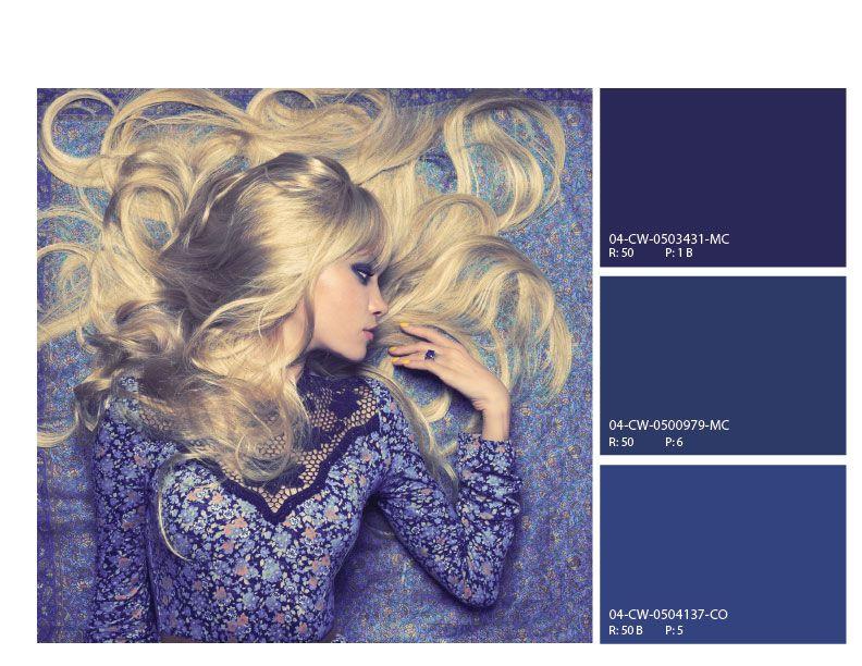Mood Enhancing Colors high fashion blues color scheme, high fashion blue mood board