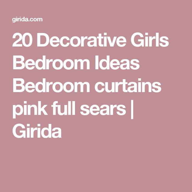 20 Decorative Girls Bedroom Ideas Bedroom curtains pink full sears ...