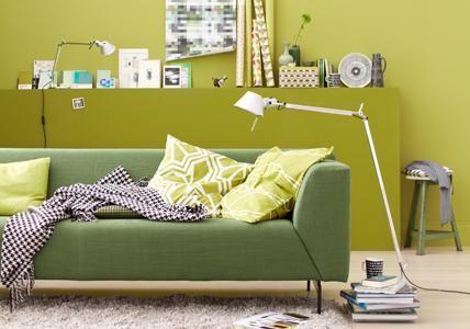 ▷ Wohnen und einrichten mit Grün - dekoration wohnzimmer grun