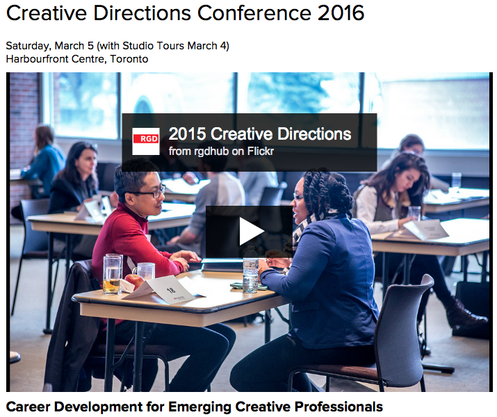 Creative Directions Conference 2016 Saturday, March 5