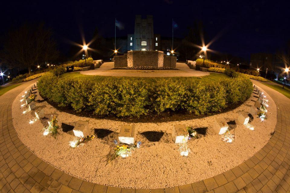 Virginia Tech Memorial to Shooting Victims Fisheye