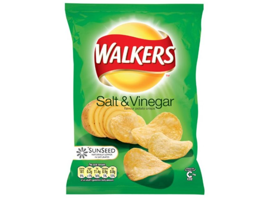 Walkers Salt And Vinegar Crisps British Crisps Salt And Vinegar Crisps Potato Chip Flavors