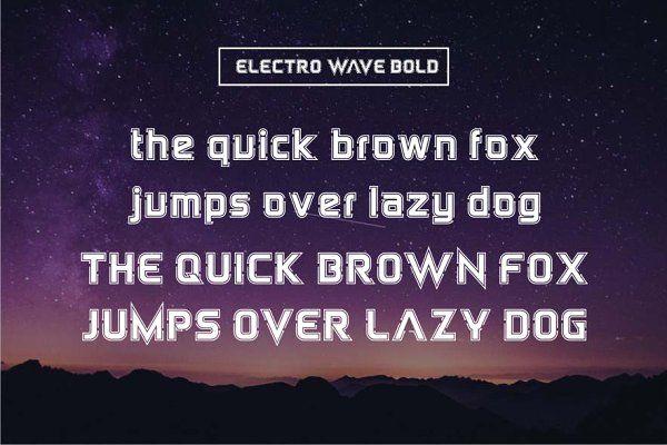 Electro Wave by Jamalodin on @creativemarket | Blogger Fonts